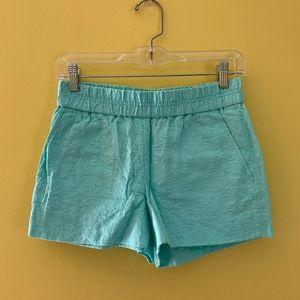 Mint green shorts